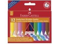 Plastkrita FABER CASTELL trekantig 12/FP