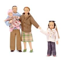 Dockfamilj till dockskåp, Melissa & Doug
