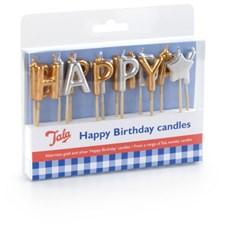 Kakelys, Happy Birthday, Gull/Sølv, Tala
