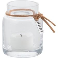 ERNST Värmeljuslykta Glas 8 cm