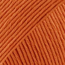 Safran Drops design Garn Bomull 50 g appelsin 28
