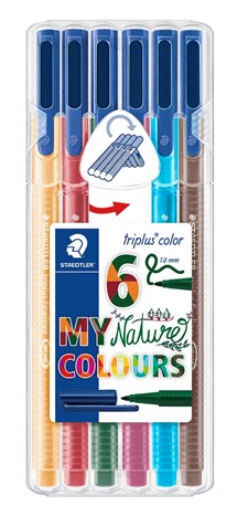 Triplus® color 6-pack, i STAEDTLER-box, 1 mm fiberspets. Nature