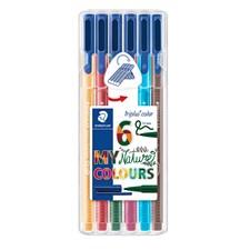 Triplus® color 6-pack, i STAEDTLER-box, 1 mm fiberspets. Nature
