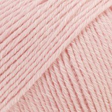 Drops Cotton Merino Uni Colour Garn Ullmix 50g Powder Pink 05