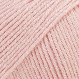 Drops Cotton Merino Uni Colour Lanka Villasekoitus 50g Powder Pink 05