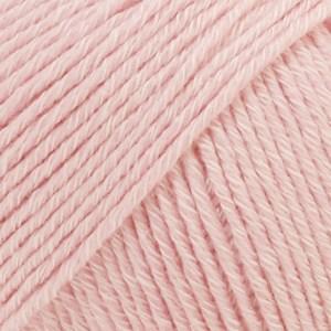Drops Cotton Merino Uni Colour Garn Ullmix 50g Powder Pink 05