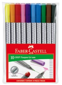 Faber-Castell Grip Finepen 0.4 mm 10 pakning