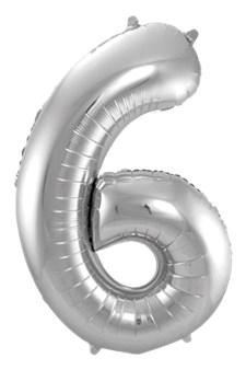 Jumbo Tallballong Sølv 6
