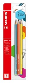 Blyertspenna Stabilo pencil 160 HB Petrol + Orange + Gul 3-pack