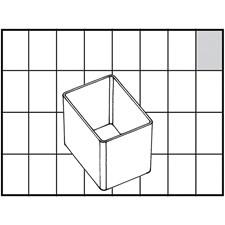 Basisinnsats, str. 55x39 mm, H: 47 mm, 1 stk.