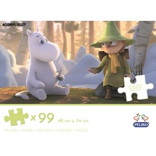 Puslespill, 99 brikker, Moominvalley Animation, Mummi
