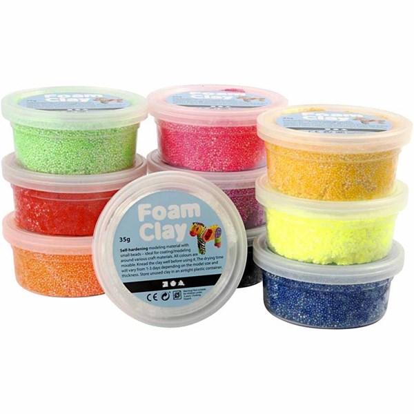 Foam Clay®, ass. Farger, basis, 10x35g