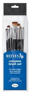 Penslar Nybörjarset Akvarell Reeves Kort Skaft 7 pack