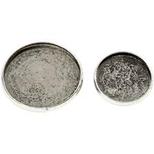 Brosjenål, dia. 18+25 mm, 6 ass., antikk sølv