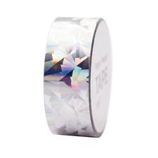 Washitape Holografisk, Crystal Silver 19 mm x 10 m