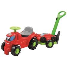 Traktor, Gåbil med gressklipper, Ecoiffier