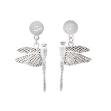 Ioaku Dragonfly Earrings Alloy Silver