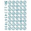 Stempel, silikon, Abc/ Nummer, Rund 15,5 X 24,5 cm