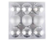 Julgranskulor små Silver