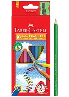 Färgp. FABER-CASTELL Triangular (10)