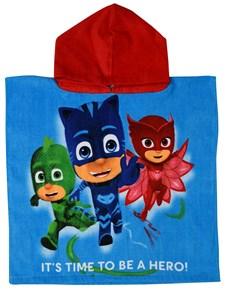 Badponcho, Pyjamashjältarna, blå/röd