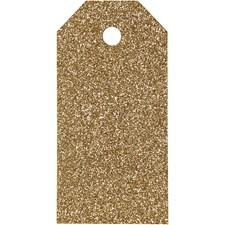 Manillamerker, str. 5x10 cm,  300 g, gull, glitter, 15stk.