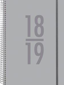 Kalender 18-19 Burde Senator A6 Velvet, grå