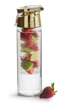 Sagaform Fresh Flaska Med Fruktkolv Låsbar Guld