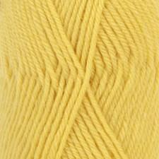 Drops, Karisma Uni Colour, Garn, Ullgarn, 50 g, Sitron 79