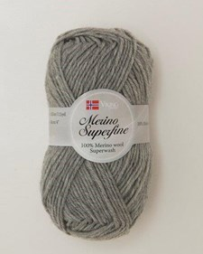 Viking of Norway Merino Superfine Garn Merinoull 50g Ljusgrå 613