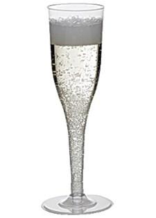 Plastglas Champagne med Lös Fot 13,5 cl 12 st