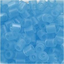 Rörpärlor 5x5 mm 1100 st Neonblå (29)