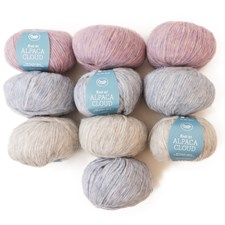 Color Pack Adlibris Alpaca Cloud 50g Soft Melange 10-Pack