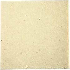 Naturpapper Handgjort 20x20 cm Off-White 10 Ark