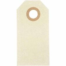 Pakettietiketit, koko 3x6 cm,  250 g, luonnonrusk., 30kpl