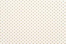 Stoff Stjerner Hvit/Gull, 50/160 cm
