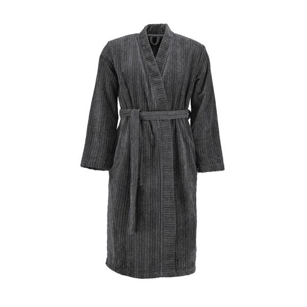 Marc O'Polo Velour Stripe Morgonrock S Antracit (grå) - badrockar & morgonrockar