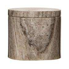 Bloomingville Kannellinen astia Marmoria Halkaisija 10 cm, Korkeus 9 cm Luonnonväri
