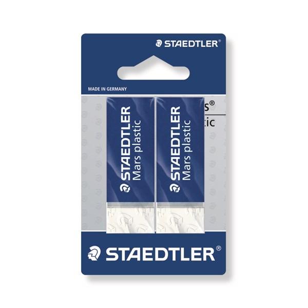 Mars® plastic 2-pack, blisterkort. Premium suddgummi.