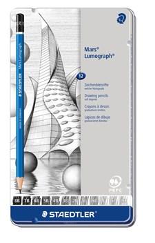 Luonnostelukynä STAEDTLER Mars Lumograph 12 kpl Premium