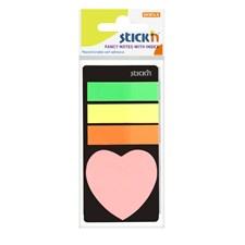 Indeksitarrat STICK'N 45 x 12, + sydän 20b Neon