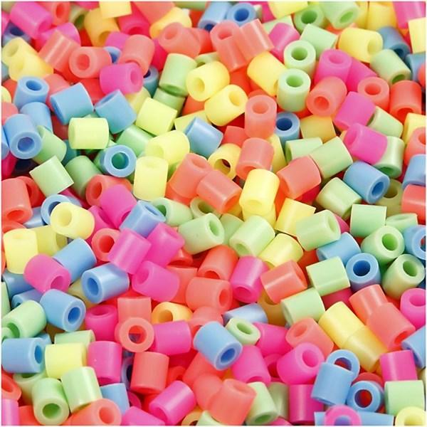 Rørperler, str. 5x5 mm, hullstr. 2,5 mm, 1100 ass., glitter farver