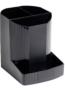 Pennställ Multiform Recycled Eco 12,3x9x11 cm Svart