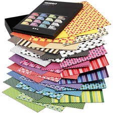 Colorbar rivkartong, A4 210x297 mm,  250 g, mixade färger, mönstrad kartong, 160mix. ark