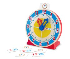 Turn and Tell Clock, Lær klokka, Melissa & Doug