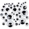 Liikkuvat silmät, tarrataustaiset, halk. 4-20 mm, 1100 laj/ 1 pkk