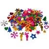 Paljetit, koko 8-50 mm, vahvat värit, joulu, 35g