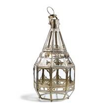 Day home Oriental Ljuslykta Nickel/Glas H 45 cm D 21 cm Silver