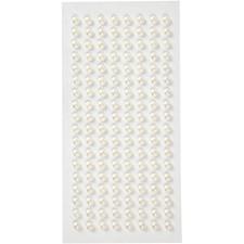 Helmenpuolikkaat, halk. 5 mm, 144 kpl, valkoinen