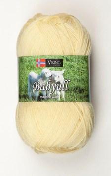 Viking of Norway Baby Ull Garn Merinoull 50g Gul 342